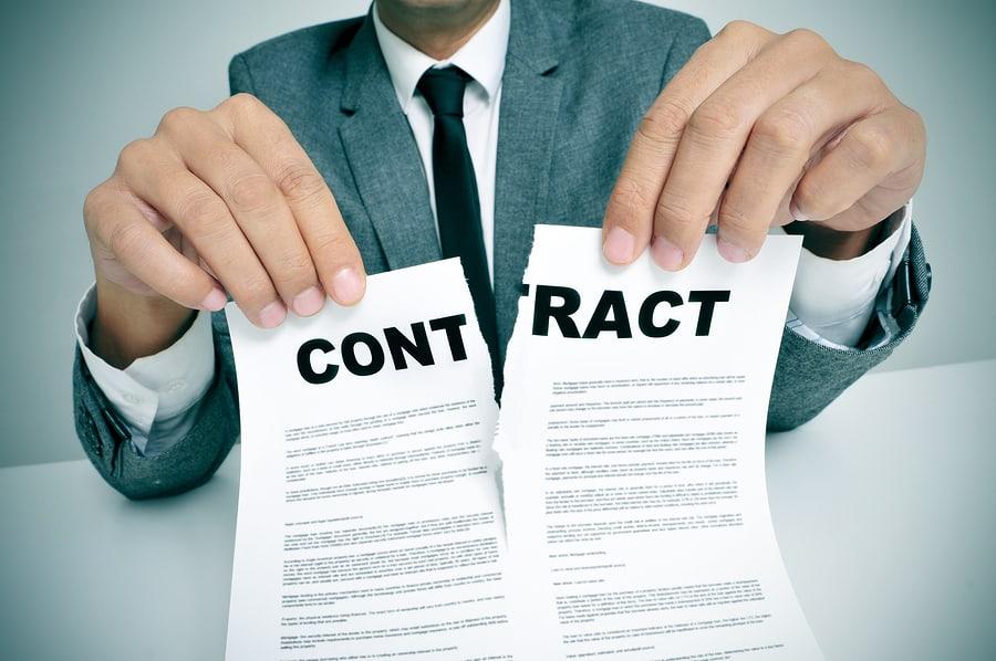 Contract in divorce cases