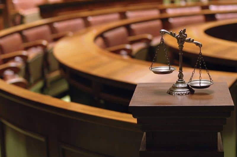 Trial lawyers in court